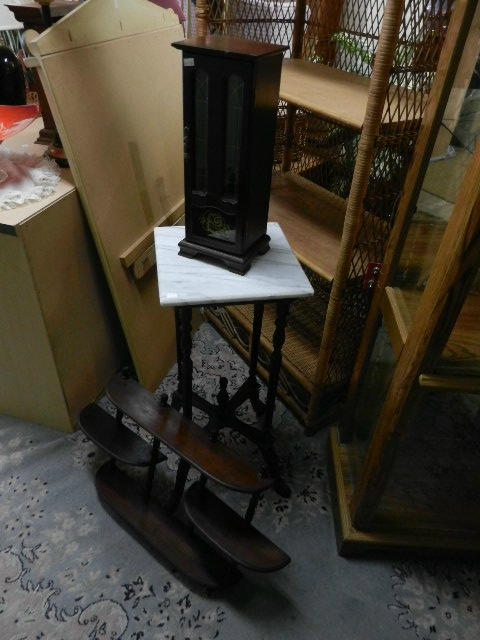 Misc. Shelves and stand w marble top